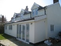 Rear house extension and dormer windows