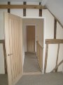 Landing from Master bedroom, oak doors and ash balustrade