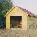 Timber garage made from pressure treated softwood